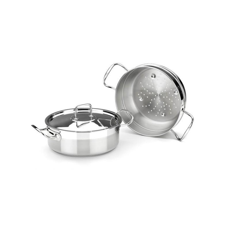 Cuit vapeur diam tre 24cm en inox professionnel18 10 - Panier cuit vapeur inox ...