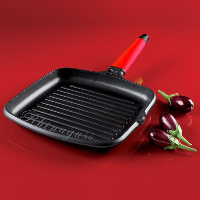 grand grill viande induction 27x27cm fundix avec manche amovible. Black Bedroom Furniture Sets. Home Design Ideas