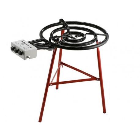 bruleur gaz propane et butane professionnel 3 anneaux 600mm. Black Bedroom Furniture Sets. Home Design Ideas