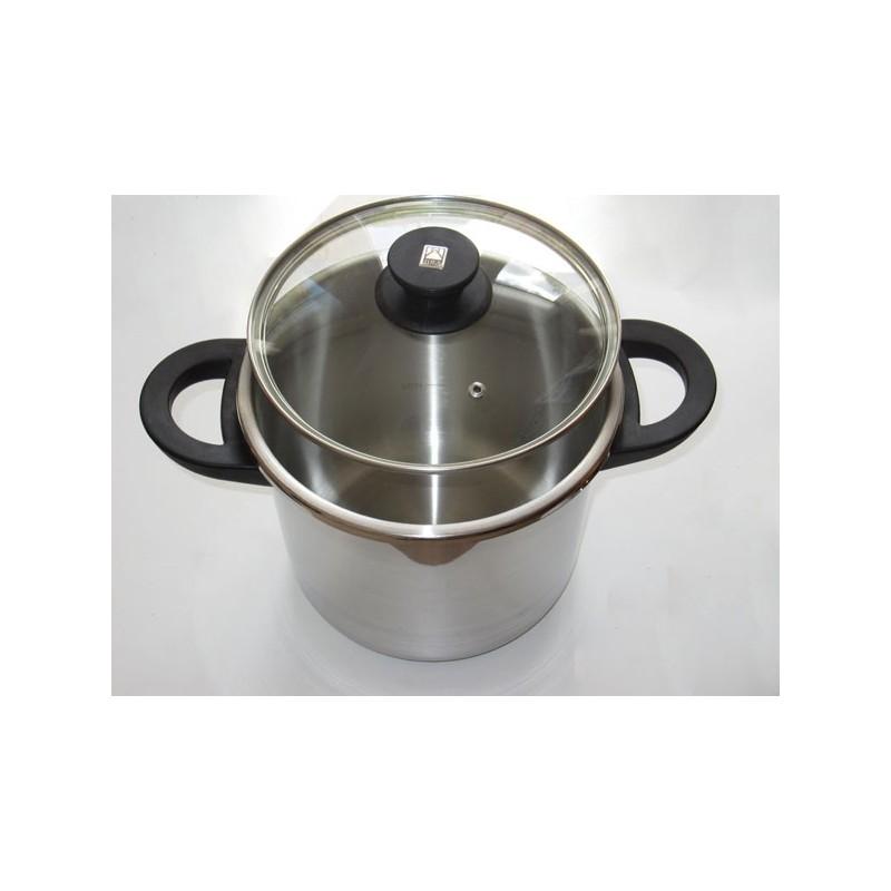 auto cuiseur facile 7 litres inox 18 10 avec triple fond et panier vapeur en inox. Black Bedroom Furniture Sets. Home Design Ideas