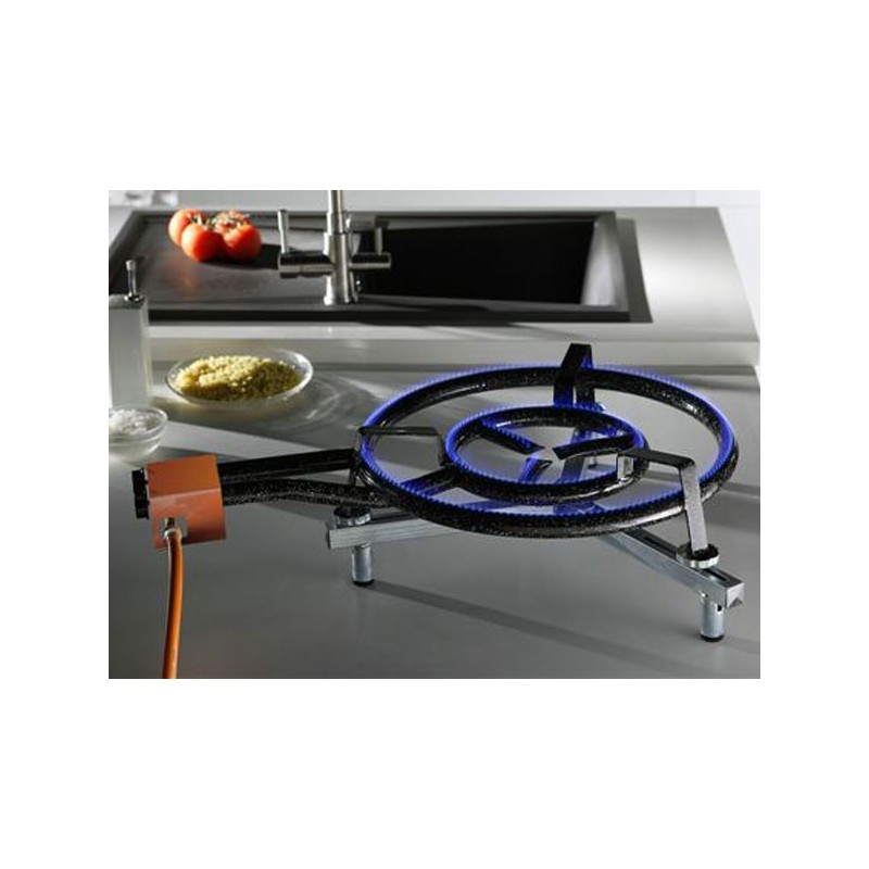 Bruleur gaz propane et butane 1 anneau 300mm - Bruleur a gaz pour paella ...
