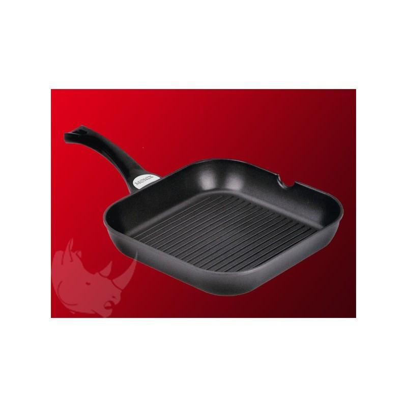 grill viande induction 24x24cm en fonte d 39 aluminium prix discount. Black Bedroom Furniture Sets. Home Design Ideas