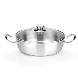 """Mijoteuse Inox 26cm """"Modèle Chef"""" avec couvercle"""