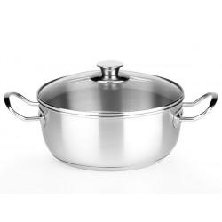 """Faitout Inox 20cm """"Modèle Chef"""" avec couvercle - Bien Cuisiner"""