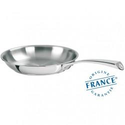 Po le inox 24cm casteline par cristel origine france garantie - Poele cuisine haut de gamme ...