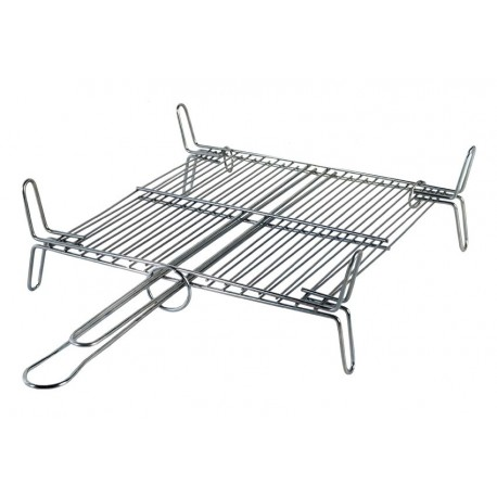Double grille à Barbecue en inox (30x35cm)