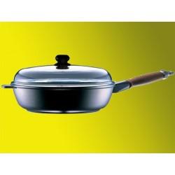 Sauteuse 24 cm avec couvercle pyrex