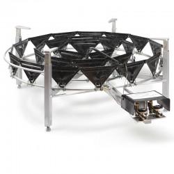 Brûleur gaz naturel 900 mm pour micro brasserie - 60Kw