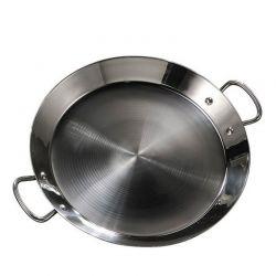 Plat à Paella en inox 46cm - Spécial induction