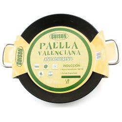 Poêle à paella en inox anti-adhésif 36cm- Spécial induction