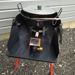 Kit fondue à gaz + pare-flamme - 5 litres