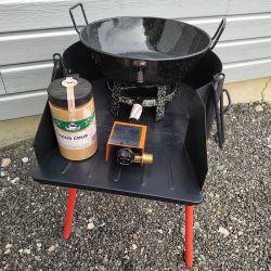 Kit fondue à gaz + pare-flamme - 17 litres