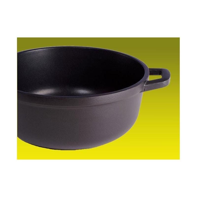 faitout castey induction 32 cm anti adh rent vendu avec couvercle en verre cocotte ronde en fonte. Black Bedroom Furniture Sets. Home Design Ideas