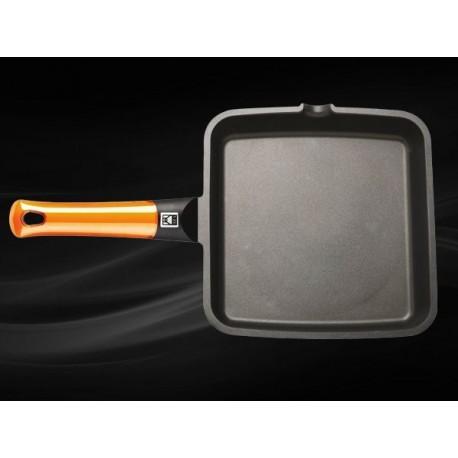 Poêle carrée 28x28cm Induction Bra Orange
