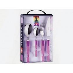 Ménagère 24 pièces - Manche violet